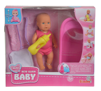 Obrázek Mini New Baby Panenka pije a čůrá, Baby Set, 12 cm