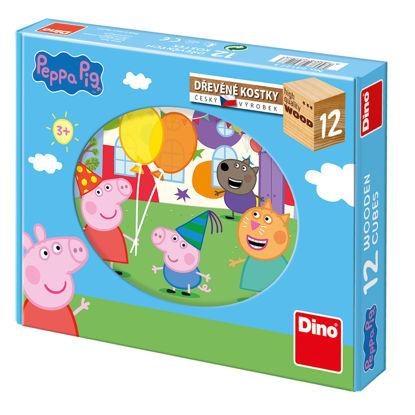 Obrázek Peppa Pig dřevěné kostky 12K