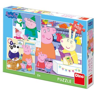 Obrázek Puzzle Peppa Pig: Veselé odpoledne 3X55D