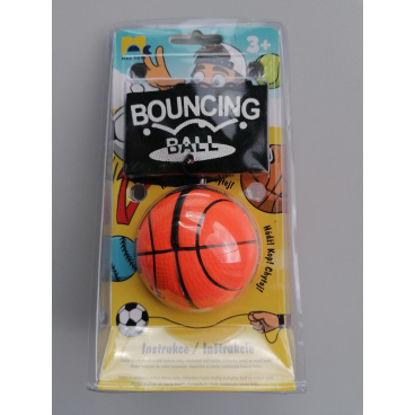 Obrázek Míček na gumičce - basketbal