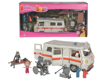 Obrázek Máša a medvěd Ambulance hrací set