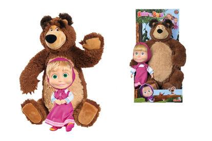 Obrázek Máša a medvěd Set Míša plyšový 43 cm a panenka Máša 23 cm