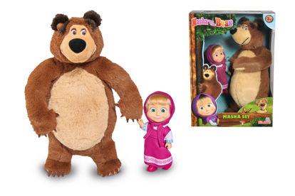 Obrázek Máša a medvěd Set Míša plyšový a panenka Máša