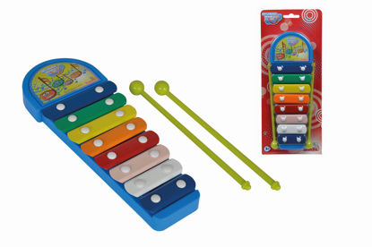 Obrázek MMW Xylofon modrý 8 kovových kláves