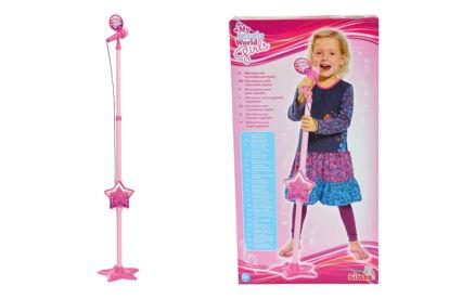 Obrázek Růžový mikrofon se stojanem