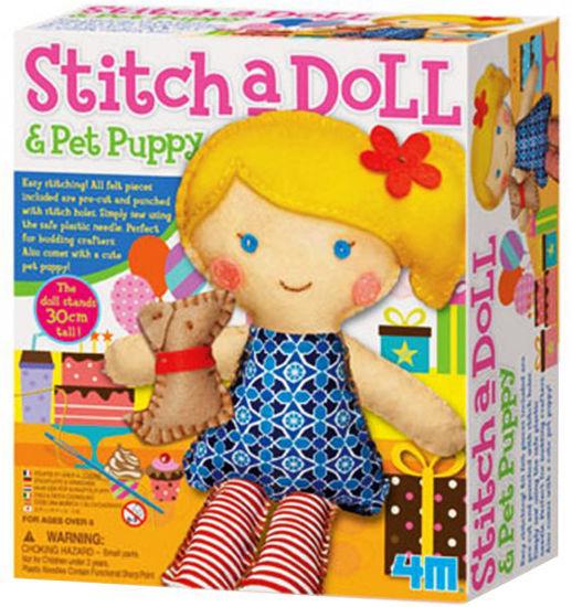 Obrázek z Kreativní sada šití - panenka s pejskem