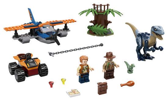 Obrázek z LEGO Jurassic World 75942 Velociraptor: Záchranná mise s dvouplošníkem