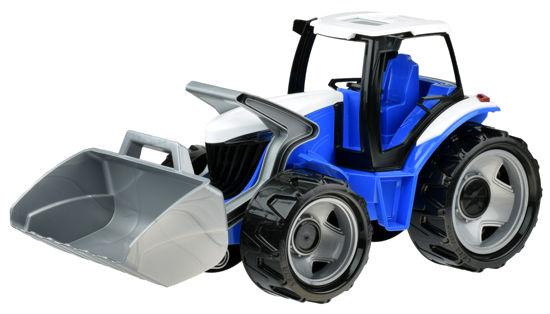 Obrázek z Dětský traktor se lžící modrošedý