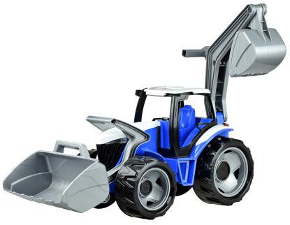 Obrázek Dětský traktor se lžící a bagrem modrošedý