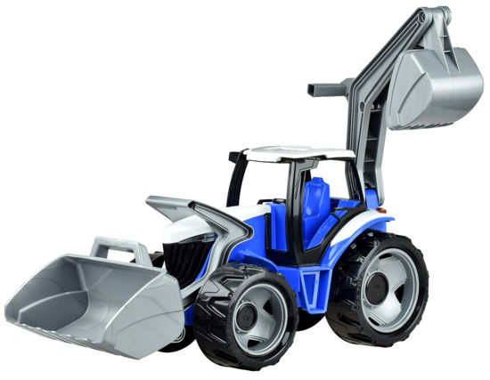 Obrázek z Dětský traktor se lžící a bagrem modrošedý