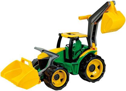 Obrázek Dětský traktor se lžící a bagrem zelenožlutý