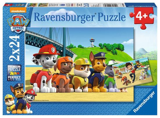 Obrázek z Puzzle Tlapková Patrola: Stateční psi; 2x24 dílků