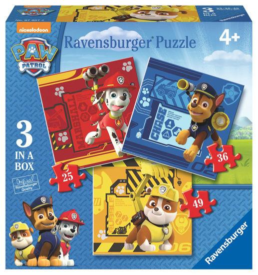 Obrázek z Puzzle Tlapková Patrola: Rubble, Marshall & Chase; 25/36/49 dílků