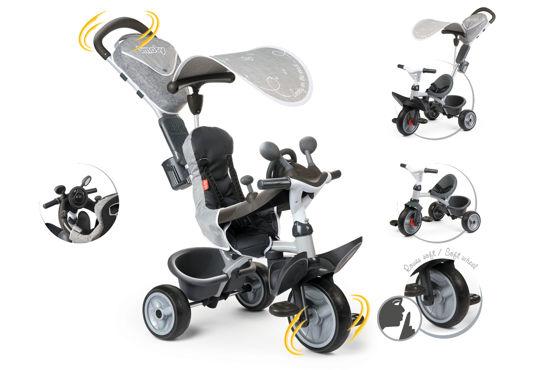 Obrázek z Tříkolka Baby Driver Comfort šedá, stříška