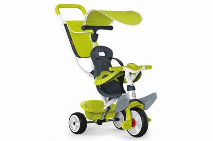 Obrázek Tříkolka Baby Balade 2 zelená, stříška, taška