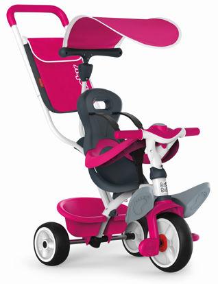 Obrázek Tříkolka Baby Balade 2 růžová, stříška, taška