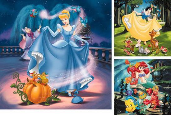 Obrázek z Puzzle Disney Princezny 3x49 dílků