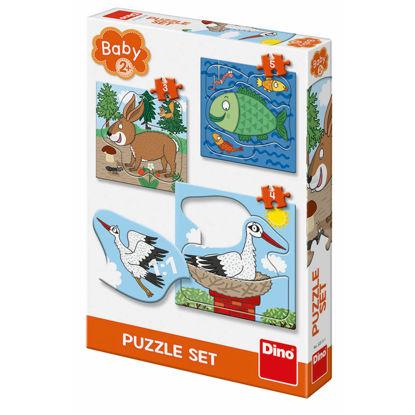 Obrázek Zvířátka: Kde žijí 3-5 baby puzzle