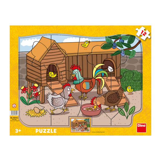 Obrázek z Puzzle Zvířátka 12D deskové