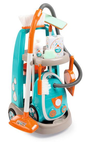 Obrázek z Vozík pro malou uklízečku s vysavačem