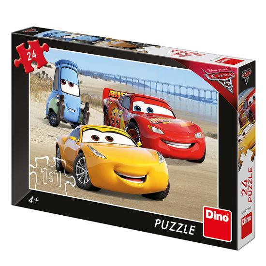 Obrázek z Puzzle Cars 3: Na pláži 24 dílků
