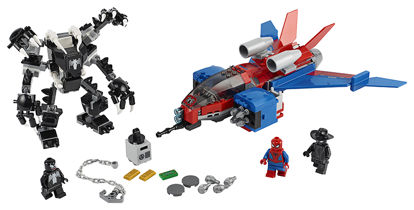 Obrázek LEGO Super Heroes 76150 Spiderjet vs. Venomův robot