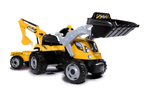 Obrázek z Šlapací traktor Builder Max s bagrem a vozíkem