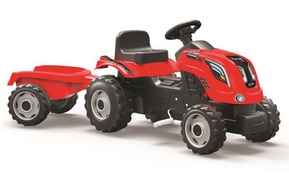Obrázek Šlapací traktor Farmer XL červený s vozíkem