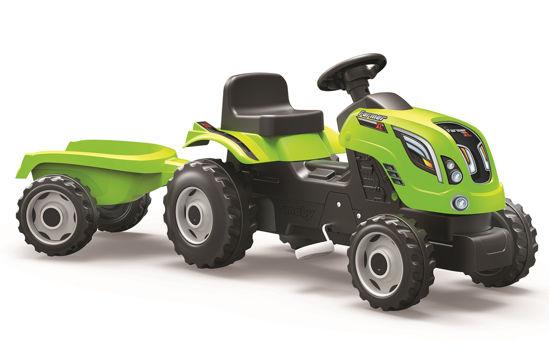 Obrázek z Šlapací traktor Farmer XL zelený s vozíkem