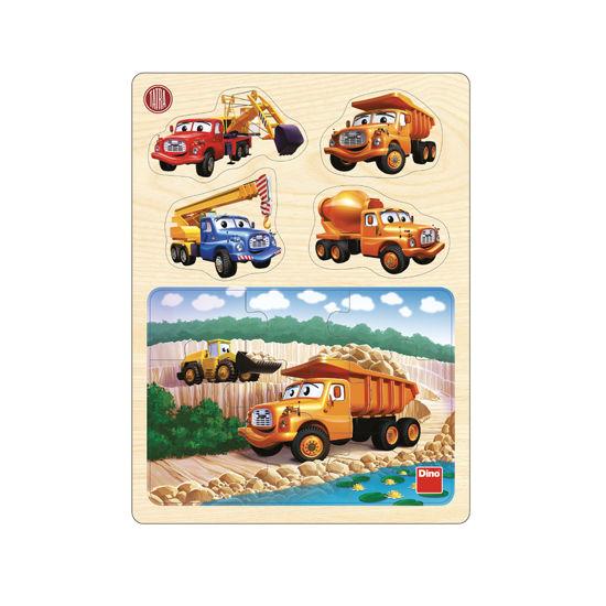 Obrázek z Tatra v lomu dřev. Puzzle