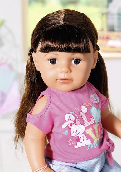 Obrázek z Starší sestřička BABY born Soft Touch brunetka,  43 cm