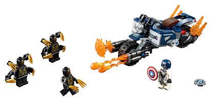 Obrázek LEGO Super Heroes 76123 Captain America: útok Outriderů