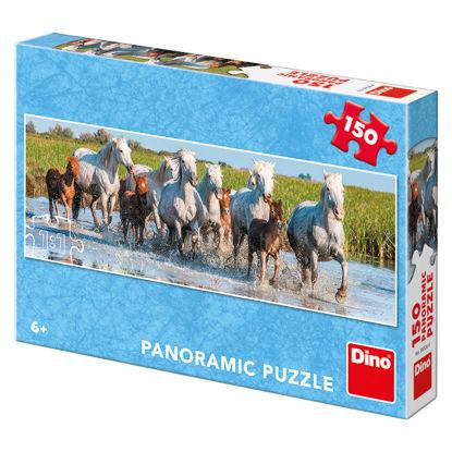 Obrázek Camargští koně 150D panoramic puzzle