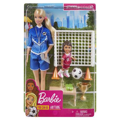 Obrázek Barbie  FOTBALOVÁ TRENÉRKA s panenkou herní set