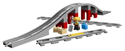 Obrázek LEGO Duplo 10872 Doplňky k vláčku – most a koleje