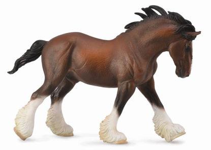 Obrázek Clydesdalský kůň - hnědý