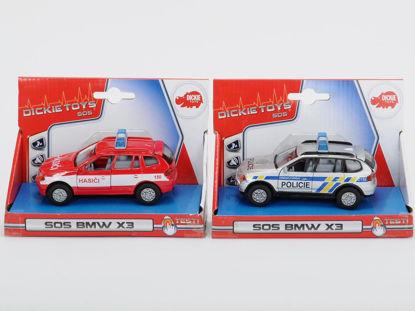 Obrázek Auto Policie/Hasiči kovové