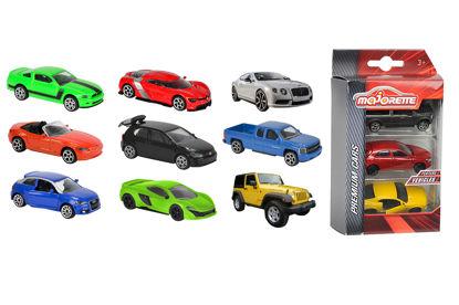 Obrázek Autíčka kovová 3 ks Street Cars