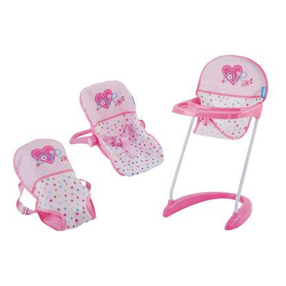 Obrázek Autosedačka, jídelní židlička, nosítko - srdíčka