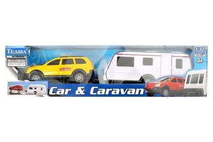 Obrázek 1:32 Auto s karavanem 4ass