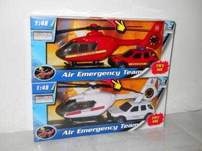Obrázek Záchranáři auto a vrtulník