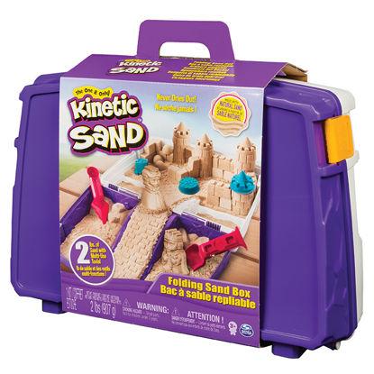 Obrázek KINETIC SAND cestovní kufřík s formičkami