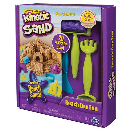 Obrázek z KINETIC SAND plážová sada 340 g s nářadím