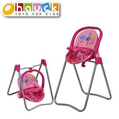 Obrázek Jídelní židlička pro panenky 3v1, Birdie