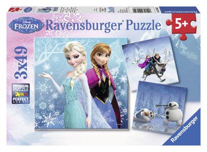 Obrázek Puzzle Ledové království 3 x 49 dílků