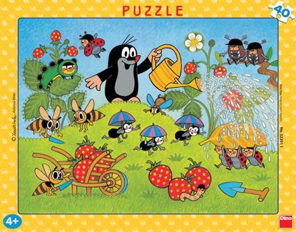 Obrázek Puzzle Krtek v jahodách  40D