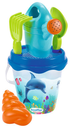Obrázek Kyblíček Delfín s konvičkou a příslušenstvím, 17 cm