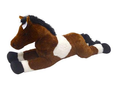 Obrázek Kůň bílo/tmavě hnědý 80 cm