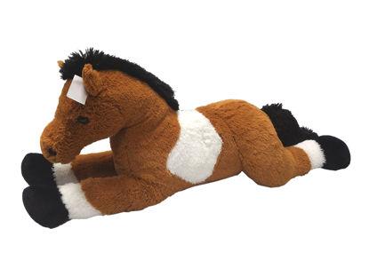 Obrázek Kůň bílo/hnědý 80 cm