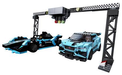 Obrázek LEGO Speed Champions 76898 Formula E Panasonic Jaguar Racing GEN2 car & Jaguar I-PACE eTROPHY
